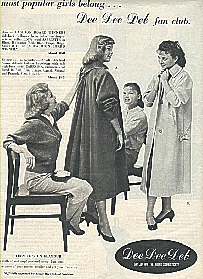 Dee Dee Deb clothes ad 1958 (Image1)