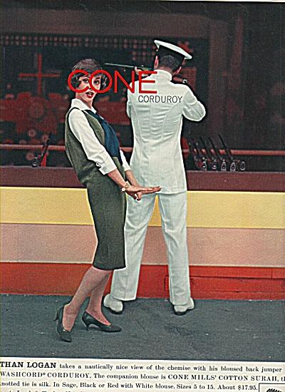 Cone Mills Corduroy ad 1958 (Image1)