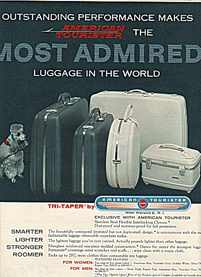 American Tourister Luggage Ad 1958