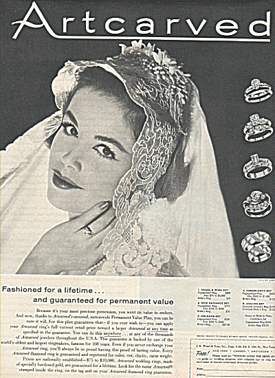 Artcarved - Rings ad 1958 (Image1)