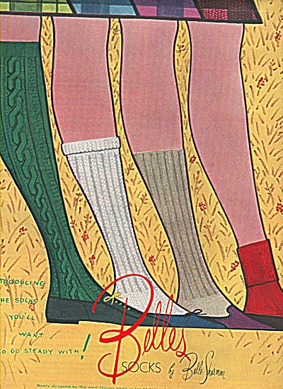 Belles socks by Belle Sharmeer ad 1958 (Image1)