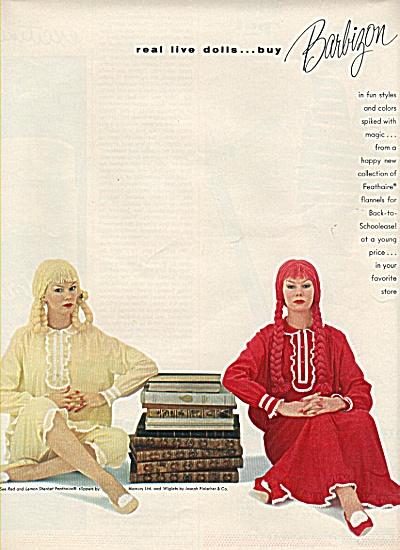 Barbizon flannels ad 1958 (Image1)