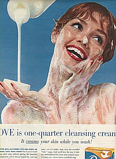 Dove bath and toilet bar soap ad 1958 (Image1)