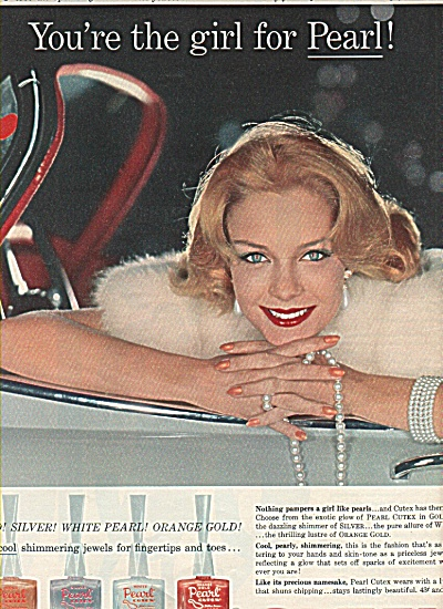 1958 Cutex Ad - Model Heather Hewitt