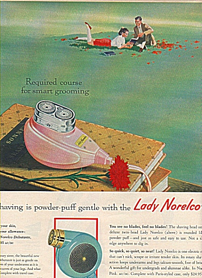 Lady Norelco Shaver Ad 1958