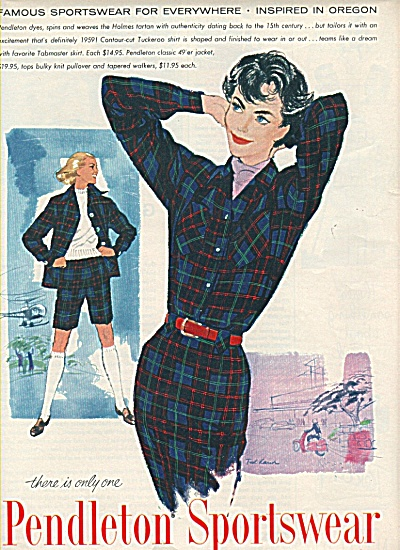 Pendleton sportswear ad 1958 VIRGIN WOOL (Image1)