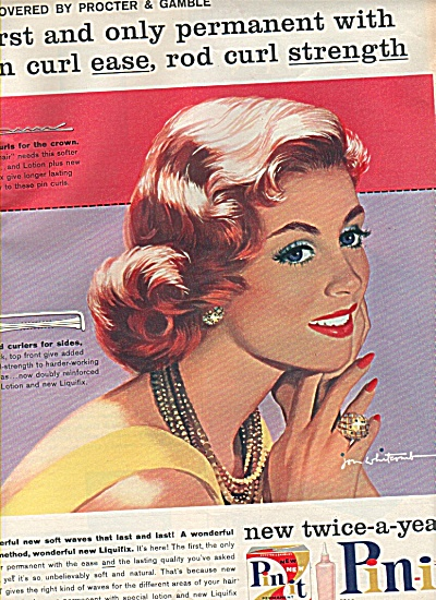 Pin It - Artist JOHN WHITCOMB  ad 1958 (Image1)