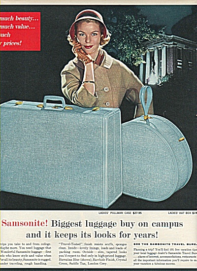 Samsonite luggage ad 1958 (Image1)