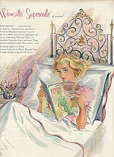 Wamsutta Mills supercvale ad 1958 (Image1)