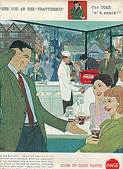Coca Cola ad 1958 WHEN THE BIG MAN CALLS (Image1)