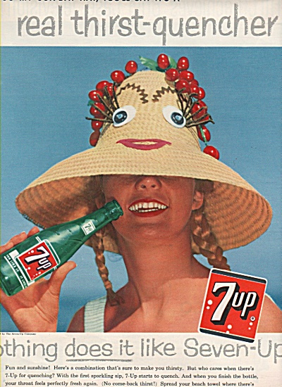 7 Up Ad 1958