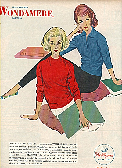 Wondamere sweaters ad 1958 (Image1)