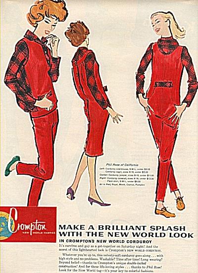 Crompton new world fabrics ad 1958 (Image1)
