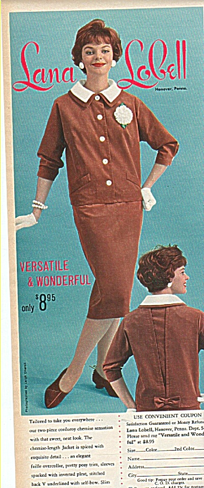 Lana Lobell clothes ad 1958 (Image1)