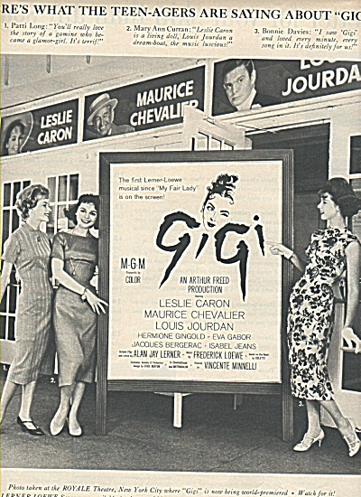 Movie Article Gigi (Leslie Caron- Maurice Chevalier)