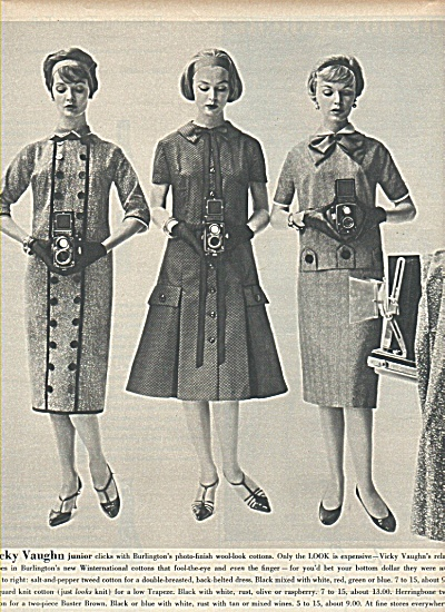 Burlington Cottons ad 1958 VICKY VAUGHN (Image1)