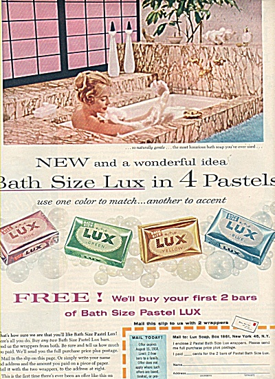 Lux Toilet soap ad 1958 (Image1)
