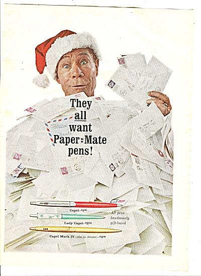 Paper MateCapri pens - JOE E. BROWN  ad 1959 (Image1)