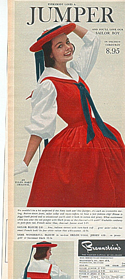Braunstein's ad 1958 Fashion Model (Image1)