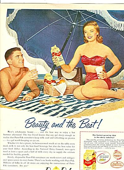 Pure Pak Milk container ad 1951 (Image1)