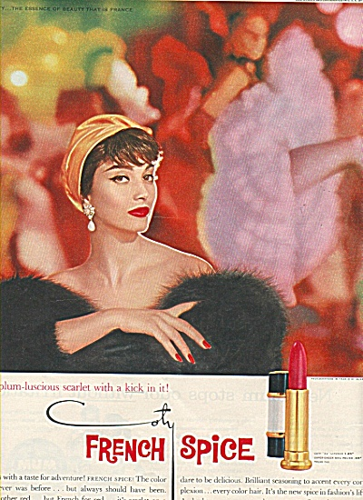 French Spice by Coty ad 1958 (Image1)