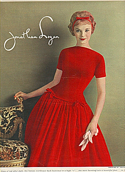 1958 JONATHAN LOGAN AD FASHION MODEL (Image1)