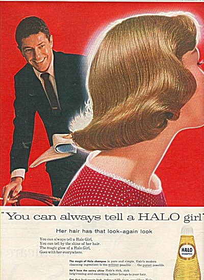 Halo shampoo -   FARLEY GRANGER  ad 1958 (Image1)
