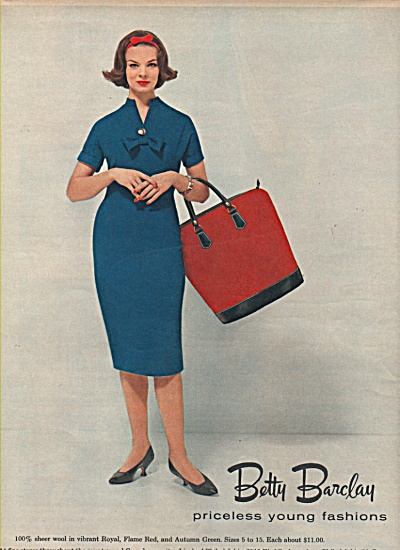 Betty Barclay Fashions 1958 FASHION MODEL (Image1)