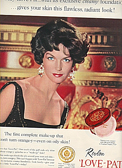 Revlon Love Pat Ad 1958 Anne St. Marie Model