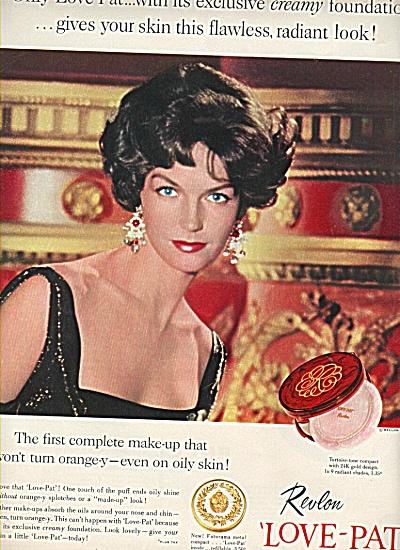 Revlon Love Pat ad 1958 ANNE ST. MARIE Model (Image1)