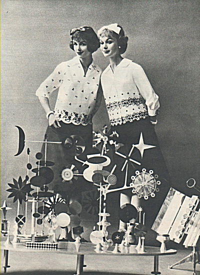 1958 SEVENTEEN MAGAZINE-FASHION MODELS SPREAD 6pg (Image1)