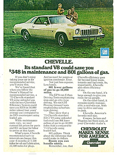 Chevrolet Chevelle ad for 1974 (Image1)