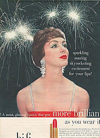 Max Factor hi-fi  lipstick ad 1958 (Image1)