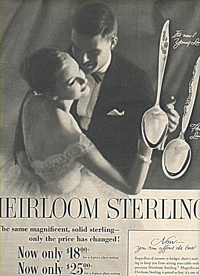 Heirloom Sterling silver ad 1958 (Image1)