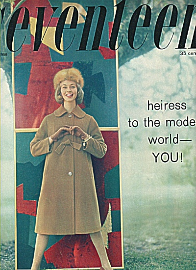 Cover Seventeen magazine - Fashion model 1958 (Image1)