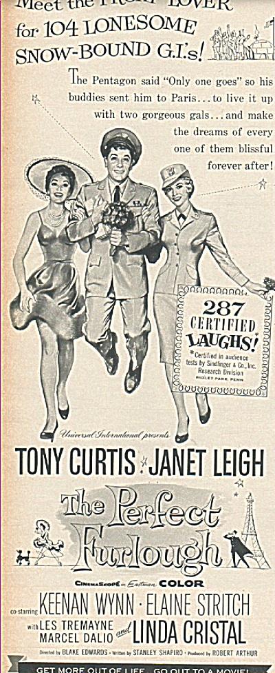 Movie; THE PERFECT FURLOUGH - TONY CURTIS (Image1)