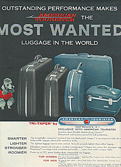 American Tourister luggage ad 1958 (Image1)