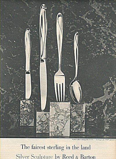 Reed & Barton Silver Sculpture Ad 1958