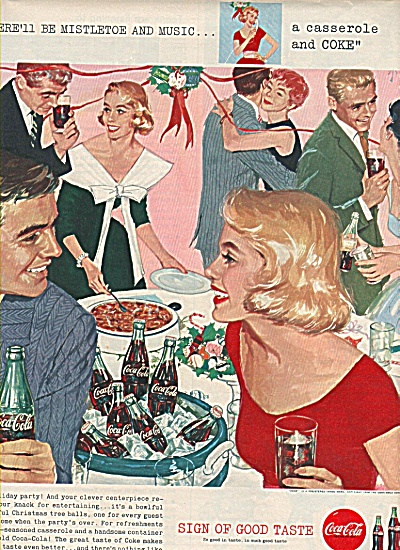 Coca Cola ad 1958 MISTLETOE AND MUSIC (Image1)