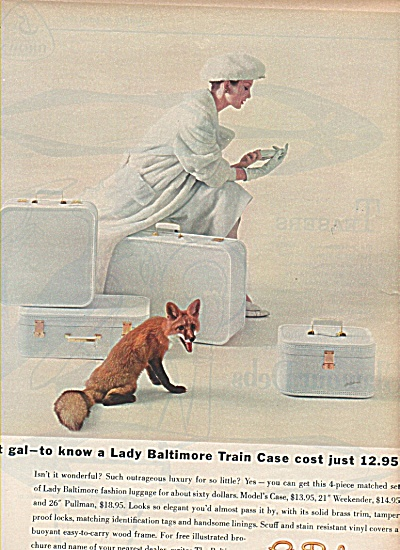 Lady Baltimore luggage ad 1958 SMART GAL (Image1)