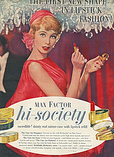 Max Factor hi society lipstick ad 1958 (Image1)