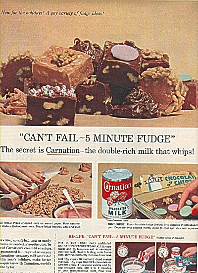 Carnation evaporated milk fudge ad 1958 (Image1)