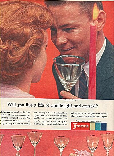 Fostoria glassware ad  1958 (Image1)