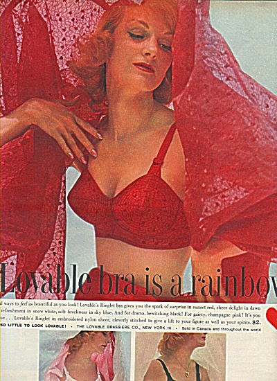 Loveable Bra Ad 1958