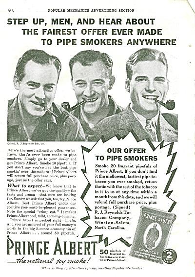 Prince Albert tobacco ad 1936 (Image1)