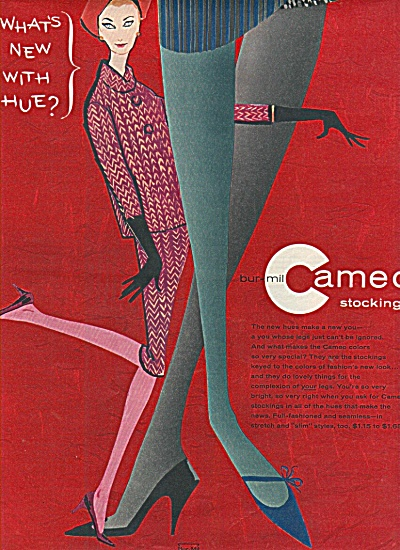 bur-mil cameo stockings ad 1958 (Image1)