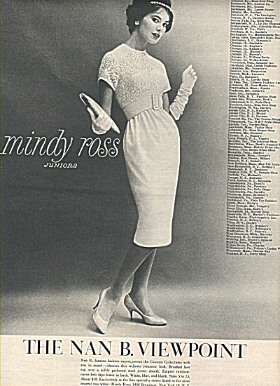 1958 Nan B. Viewpoint ad -Mindy Ross Juniors (Image1)