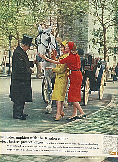 Kotex napkins with Kimlon center ad 1958 (Image1)