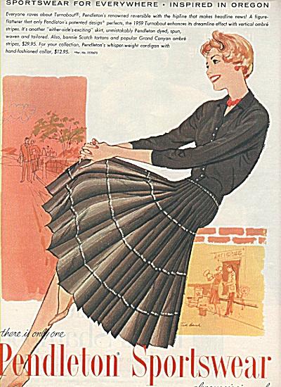 Pendleton sportswear ad 1958 (Image1)