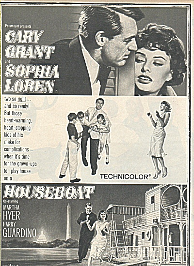 Movie- Houseboat -cary Grant- Sophie Loren